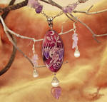 Moonlight dragon baby  - necklace - stone painting