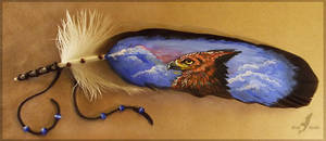 Feather painting- morning gryphon