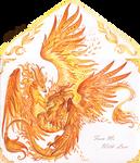 Autumnal dragons dance - envelope design