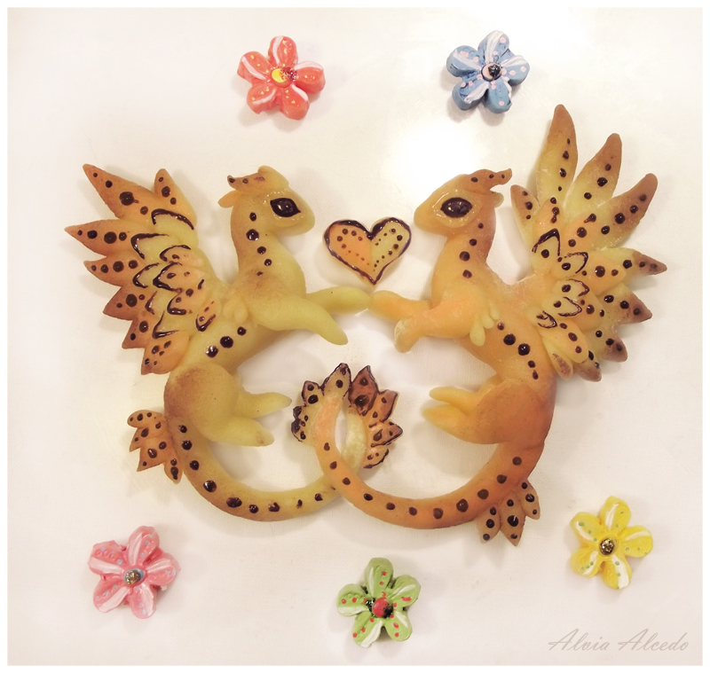 Sweet love candy dragons - Happy Valentine's Day by AlviaAlcedo
