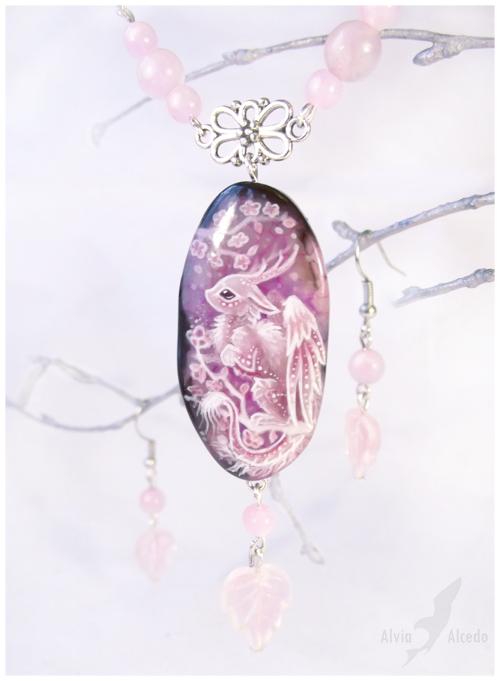 Sakura dragon guardian - stone painting by AlviaAlcedo