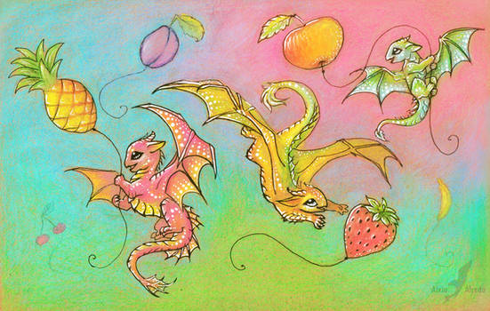 Fruit sky happiness