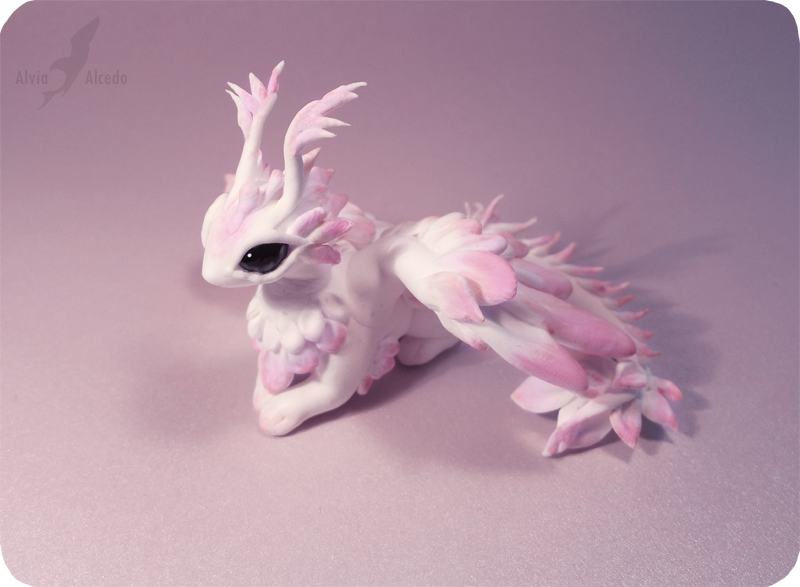 Pink moth dragon by AlviaAlcedo