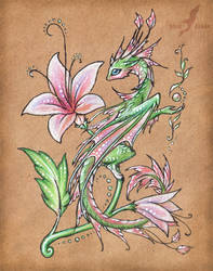 Wild flower dragon by AlviaAlcedo