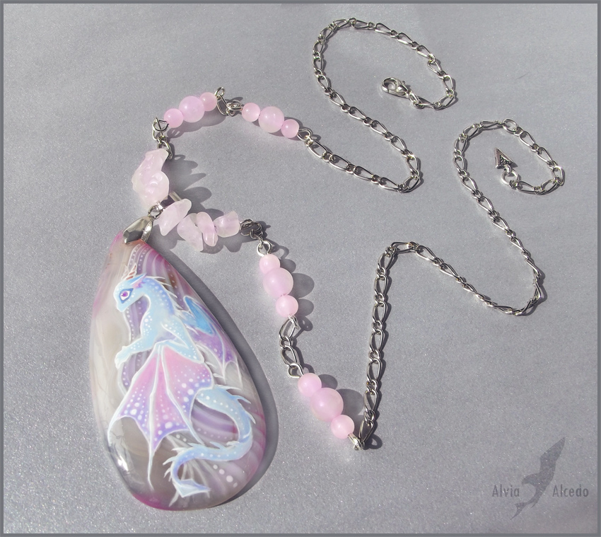 Shira the  dragoness - stone painting by AlviaAlcedo
