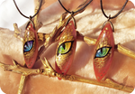 Golden dragon eyes - stone painting necklaces