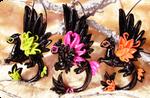 Neon dragons - necklace set