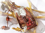 White headed dragon necklace