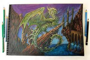 Green dragon's realm by AlviaAlcedo