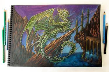 Green dragon's realm by AlviaAlcedo