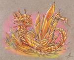 Fire crystal dragon
