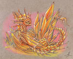 Fire crystal dragon