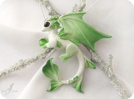 Spring forest dragon necklace by AlviaAlcedo