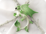 Spring forest dragon necklace