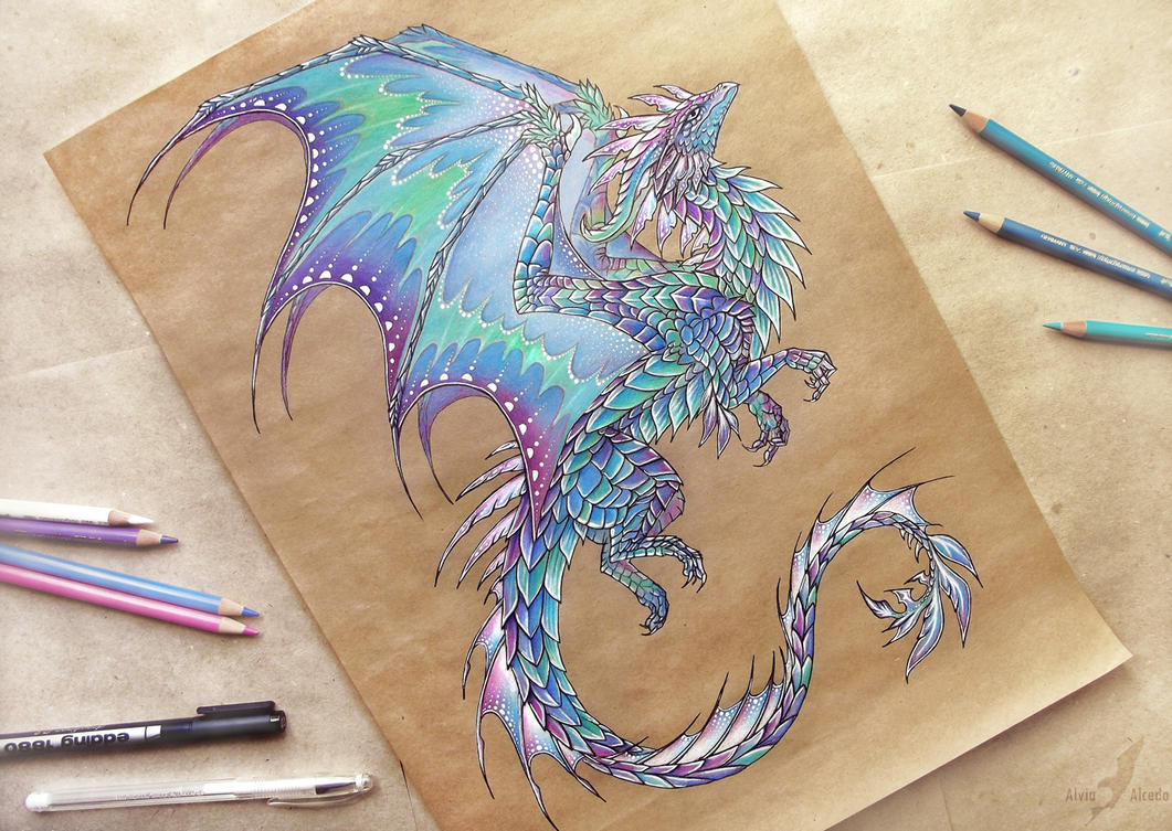 Dragon of Northern Lights - tattoo design by AlviaAlcedo