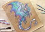 Dragon of Northern Lights - tattoo design
