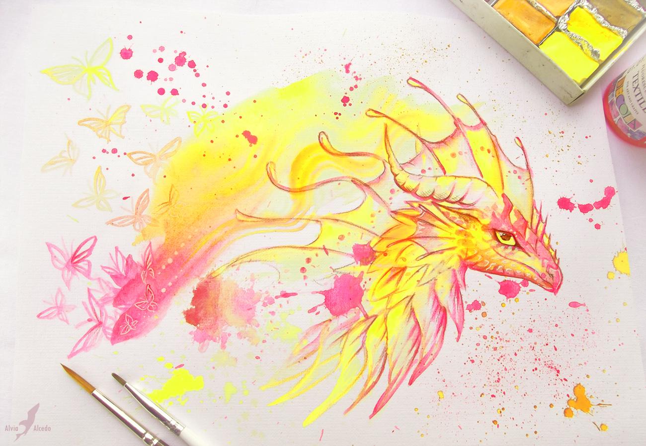 Summer dragon by AlviaAlcedo