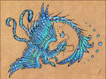 Water dragon  -  tattoo design