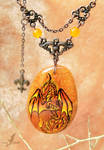 Master of fire - dragon necklace