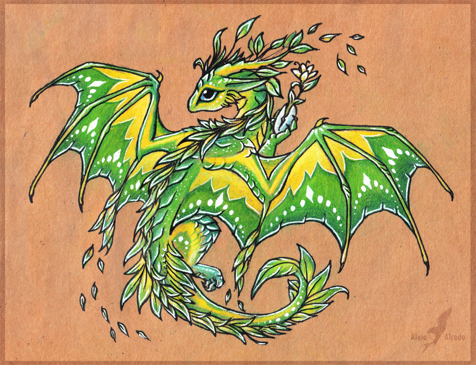 Dragon Tattoo With Flowers: The One Who Brings The Flowers By AlviaAlcedo On DeviantArt