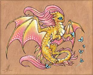 Fluttershy dragon by AlviaAlcedo