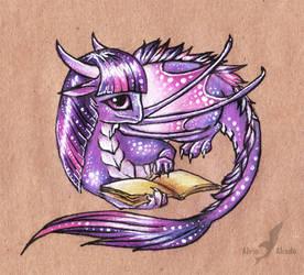 Twilight sparkle dragon by AlviaAlcedo