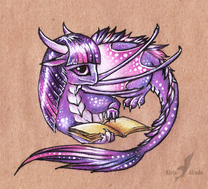 Twilight sparkle dragon by AlviaAlcedo