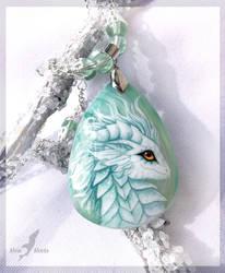 White dragoness - stone painting by AlviaAlcedo