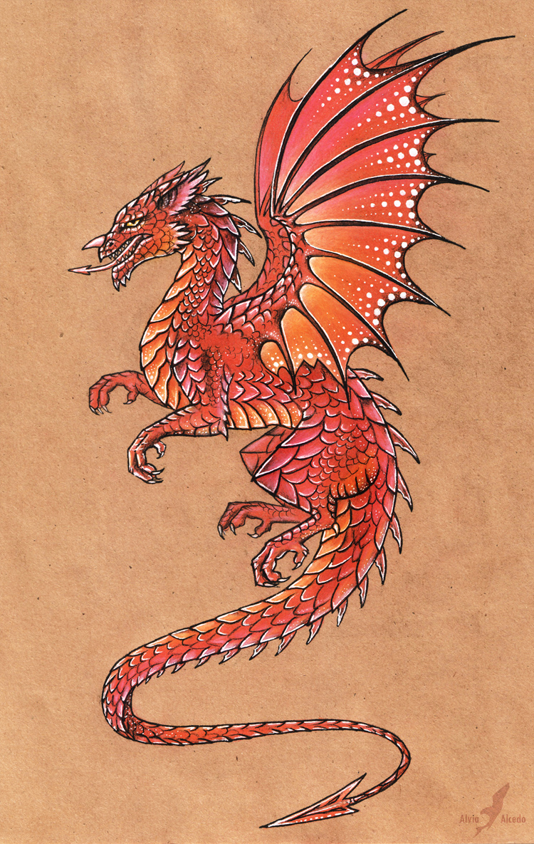 Welsh dragon by AlviaAlcedo