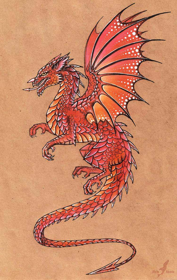 Welsh dragon by AlviaAlcedo