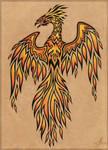 Flame phoenix - tattoo design