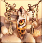 Golden tiger eye - stone painting