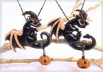 Baby witch dragons - glowing in darkness