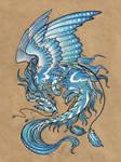 Wind dragon - tattoo design