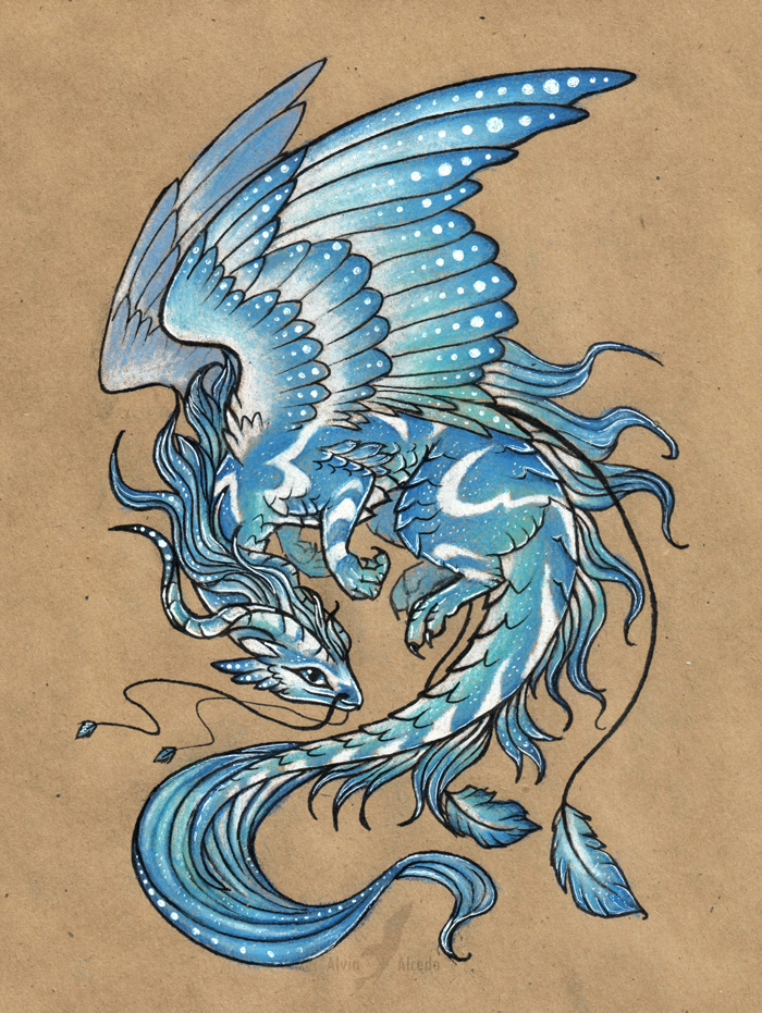 Wind dragon - tattoo design by AlviaAlcedo