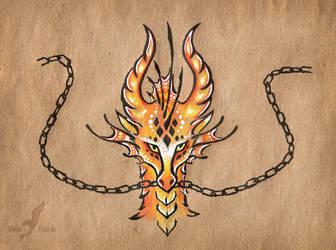 Dragon's chains by AlviaAlcedo