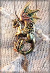 Dragon of Golden Autumn - necklace