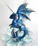 Shadow ice moon dragon necklace