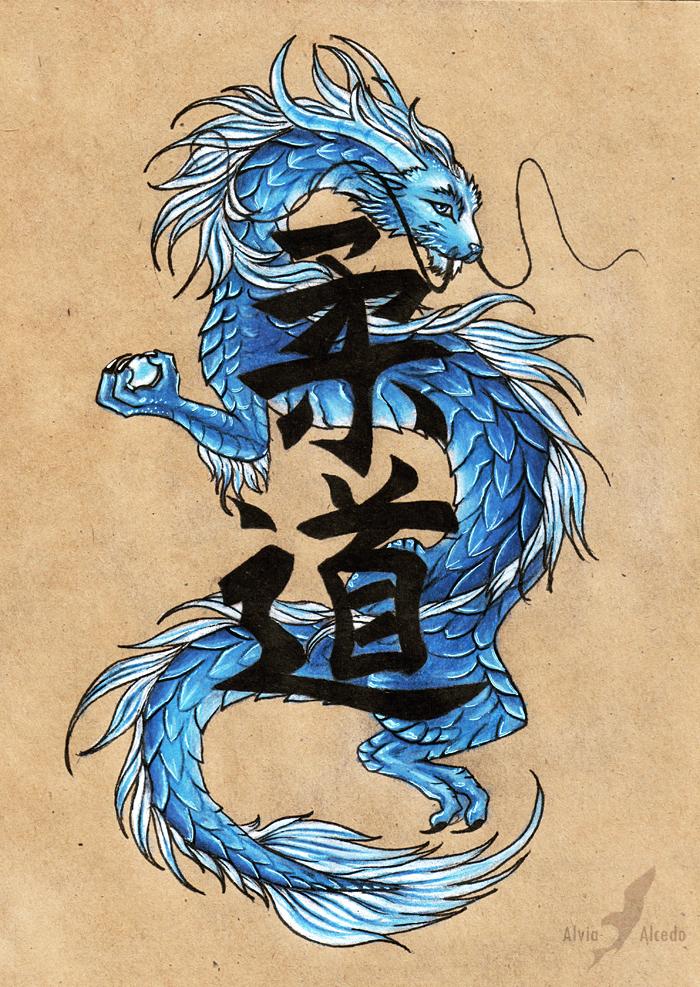 Blue eastern dragon by AlviaAlcedo