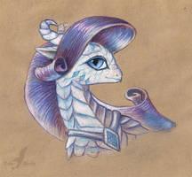 Rarity dragoness