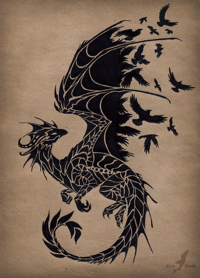 Black raven dragon