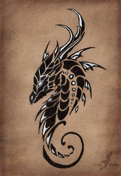 Dragon of a Moonless sky
