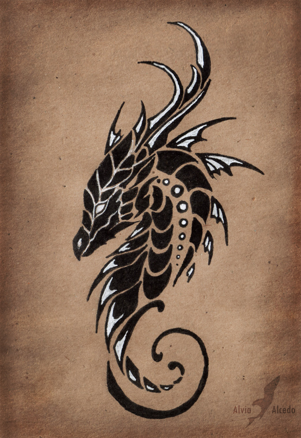 Dragon of a Moonless sky by AlviaAlcedo
