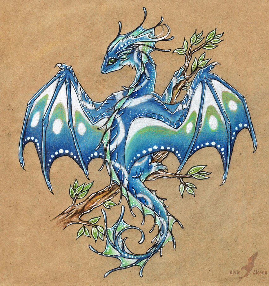 Early spring dragon by alviaalcedo on deviantart for Sea dragon tattoo