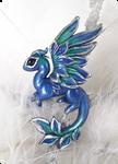 Emerald ice dragon - necklace