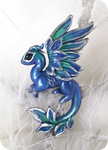 Emerald ice dragon - necklace
