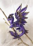 Royal violet dragon necklace