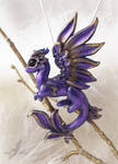 Royal violet dragon necklace
