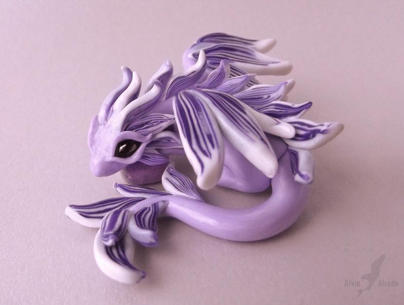 Amethyst fairy dragon by AlviaAlcedo