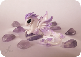 Little amethyst dragoness by AlviaAlcedo